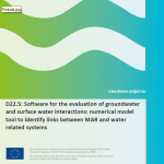 DESSIN D22.5 Software for the evaluation of groundwater and surface water interactions numerical model tool to identify links between MAR and water related systems