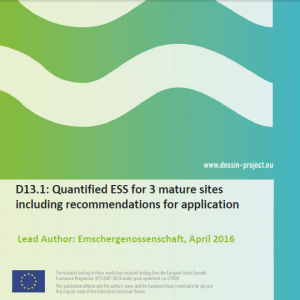 Quantified ESS for 3 mature sites including recommendations for application (D13.1)