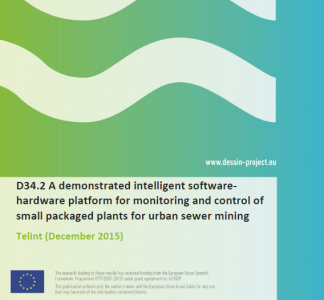 D34.2 A demonstrated intelligent software- hardware platform for monitoring and control of small packaged plants for urban sewer mining