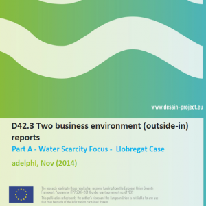 D42.3 Business Environment Report Water Scarcity (internal)