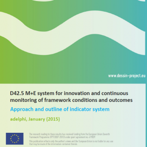 D42.5 M+E system for innovation and continuous monitoring of framework conditions and outcomes (internal)
