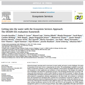 Open Access: Getting into the water with the Ecosystem Services Approach: The DESSIN ESS evaluation framework