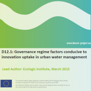 D12.1 Governance regime factors conducive to innovation uptake in urban water management