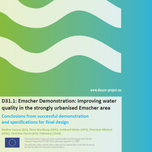 D31.1 Emscher Demonstration Improving water quality in the strongly urbanised Emscher area