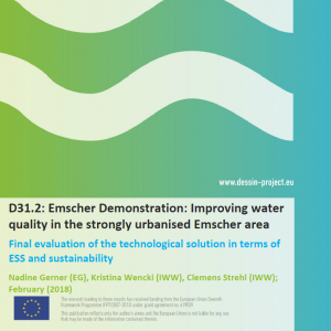 D31.2 Emscher Demonstration Improving water quality in the strongly urbanised Emscher area - Final evaluation of the technological solution in terms of ESS and sustainability