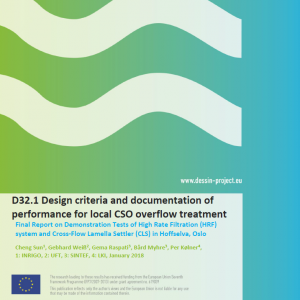 D32.1 Design criteria and documentation of performance for local CSO overflow treatment