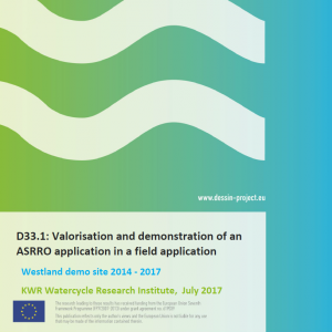 D33.1 Valorisation and demonstration of an ASRRO application in a field application