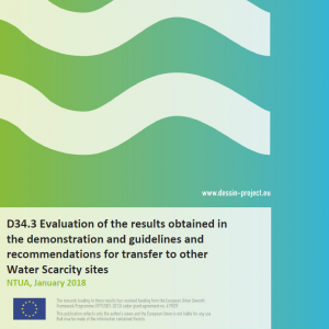 D34.3 Evaluation of the results obtained in the demonstration and guidelines and recommendations for transfer to other Water Scarcity sites
