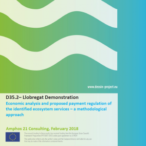 D35.2 Llobregat Demonstration - Economic analysis and proposed payment regulation of the identified ecosystem services