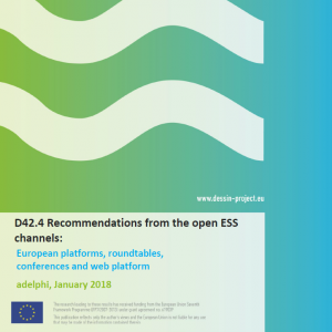 D42.4 Recommendations from the open ESS channels