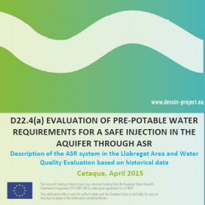 D22.4 Evaluation of pre-potablewater for injection using ASR