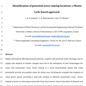 Open Access: Identification of potential sewer mining 1 locations a Monte-Carlo based approach