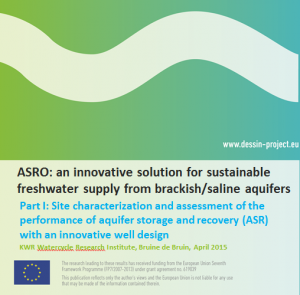 MS15 ASRO: an innovative solution for sustainable freshwater supply from brackish/saline aquifers