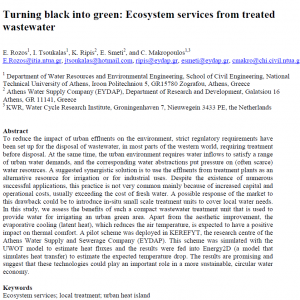 Open Access: Turning black into green: Ecosystem services from treated wastewater