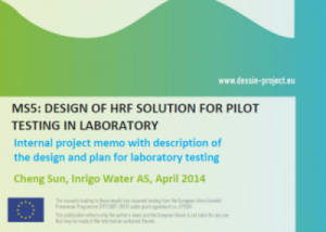 MS5 - WP21 - Design of HRF solution for pilot testing in laboratory